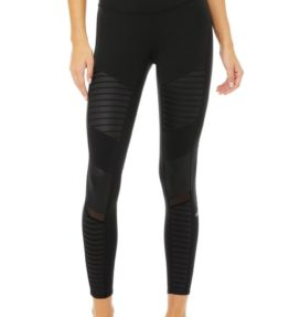 7 8 High-Waist Moto Legging black3
