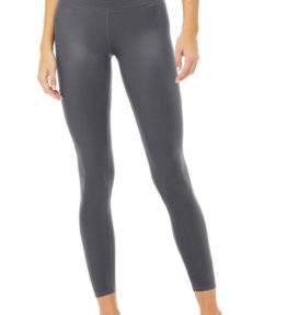 7 8 High-Waist Shine Legging grey1