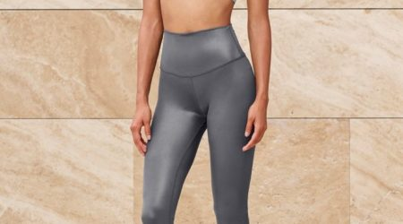 7 8 High-Waist Shine Legging grey4