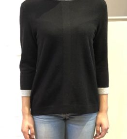 Black, grey sweater front