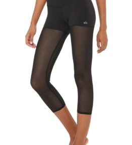 High-Waist Sheer Capri Black2